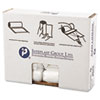 Inteplast Group High-Density Can Liner, 24 x 24, 10gal, 8mic, Clear, 50/Roll, 20 Rolls/Carton IBSS242408N