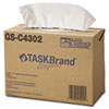 NON-RETURNABLE. Taskbrand Glass & Surface Wipers, 4ply, 9.75 X 16.75, White, 150/box, 6 Bx/ct