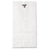 General #12 Paper Grocery Bag, 40lb White, Standard 7 1/16 x 4 1/2 x 13 3/4, 500 bags BAGGW12500