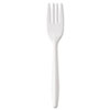 <strong>GEN</strong><br />Medium-Weight Cutlery, Fork, White, 1000/Carton
