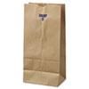 General #8 Paper Grocery Bag, 35lb Kraft, Standard 6 1/8 x 4 1/6 x 12 7/16, 500 bags BAGGK8500