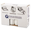 """HIGH-DENSITY INTERLEAVED COMMERCIAL CAN LINERS, 60 GAL, 12 MICRONS, 38"""" X 60"""", CLEAR, 200/CARTON"""