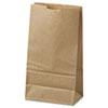 General #6 Paper Grocery Bag, 35lb Kraft, Standard 6 x 3 5/8 x 11 1/16, 500 bags BAGGK6500