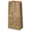 """NON-RETURNABLE. GROCERY PAPER BAGS, 40 LBS CAPACITY, #16, 7.75""""W X 4.81""""D X 16""""H, KRAFT, 500 BAGS"""
