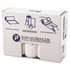 High-Density Can Liner, 40 x 48, 45gal, 17mic, Clear, 25/Roll, 10 Rolls/Carton