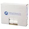 "<strong>Inteplast Group</strong><br />High-Density Commercial Can Liners, 10 gal, 6 microns, 24"" x 24"", Natural, 1,000/Carton"