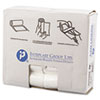 High-Density Can Liner, 24 x 33, 16gal, 6mic, Clear, 50/Roll, 20 Rolls/Carton