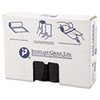 High-Density Can Liner, 33 x 40, 33gal, 16mic, Black, 25/Roll, 10 Rolls/Carton