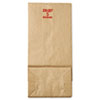 General #5 Paper Grocery, 50lb Kraft, Extra-Heavy-Duty 5 1/4x3 7/16 x10 15/16, 500 bags BAGGX5500