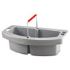 Rubbermaid® Commercial Maid Caddy, 2-Comp, 16w x 9d x 5h, Gray RCP2649GRA