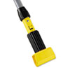 Gripper Vinyl-Covered Aluminum Mop Handle, 1 1/8 dia x 60, Gray/Yellow