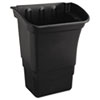 Rubbermaid® Commercial Optional Utility Cart Refuse/Utility Bin, Rectangular, 8gal, Black - FG335388BLA