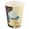 SOLO® Cup Company Tuscan Café Insulated Paper Hot Cups, 12oz, White, 600/Carton SCCIC12J7534