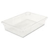 Food/Tote Boxes, 8 1/2gal, 26w x 18d x 6h, Clear
