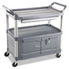 Xtra Instrument Cart, 300-lb Capacity, Three-Shelf, 20w x 40.63d x 37.8h, Gray
