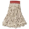 Swinger Loop Wet Mop Head, Large, Cotton/Synthetic, White, 6/Carton