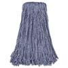 Mop Head, Standard Head, Cotton/synthetic Fiber, Cut-End, #24, Blue, 12/carton