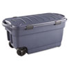 Rubbermaid® Roughneck Wheeled Storage Box, 45gal, Dark Indigo Metallic RUB2463DIM