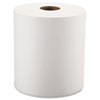 "Nonperforated Roll Towels, 1-Ply, White, 8"" x 800ft, 6 Rolls/Carton"