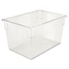 Food/Tote Boxes, 21 1/2gal, 26w x 18d x 15h, Clear