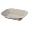 Chinet® Savaday Molded Fiber Food Tray, 9 x 7, Beige, 250/Bag, 500/Carton - HUH10405CT