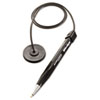 MMF Industries™ Wedgy Antimicrobial Coil Ballpoint Counter Pen with Round Base, Blue Ink, Medium MMF28408