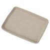 Chinet® StrongHolder Molded Fiber Food Trays, 9 x 12 x 1, Beige, Rectangular, 250/Carton - HUH20815