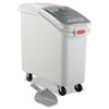 Rubbermaid® Commercial ProSave Mobile Ingredient Bin, 20.57gal, 13 1/8w x 29 1/4d x 28h, White RCP360088WHI