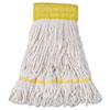 "SUPER LOOP WET MOP HEAD, COTTON/SYNTHETIC FIBER, 5"" HEADBAND, SMALL SIZE, WHITE, 12/CARTON"