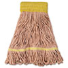 Boardwalk® Mop Head, Super Loop Head, Cotton/Synthetic Fiber, Small, Orange, 12/Carton BWK501OR