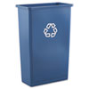 Rubbermaid® Commercial Slim Jim Recycling Container, Rectangular, Plastic, 23gal, Blue RCP354074BLU