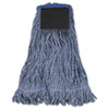 Boardwalk® Mop Head, Loop-End, Cotton With Scrub Pad, Large, 12/Carton BWK903BL