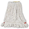 Web Foot Wet Mop Head, Shrinkless, White, Small, Cotton/Synthetic, 6/Carton