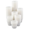 Polystyrene Portion Cups, 4oz, Translucent, 250/Bag, 10 Bags/Carton