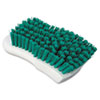"Boardwalk® Scrub Brush, Green Polypropylene Fill, 6"" Long, White BWKFSCBGRN"