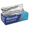 Interfolded Aluminum Foil Sheets, 12 x 10 3/4, Silver, 500/Box, 6 Boxes/Carton