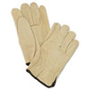 MCR™ Safety Unlined Pigskin Driver Gloves, Cream, Large, 12 Pairs - 127-3400L
