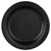 """Quiet Classic Laminated Foam Dinnerware, Plate, 9"""" dia, Black, 125/Pack, 4 Packs/Carton"""