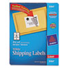 Avery® Shipping Labels with TrueBlock Technology, Laser, 3 1/3 x 4, White, 600/Box AVE5164