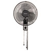"<strong>Holmes®</strong><br />16"" Wall Mount Fan, 3-Speed, Metal, Black"