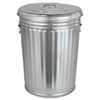 <strong>Magnolia Brush</strong><br />Pre-Galvanized Trash Can with Lid, Round, Steel, 20 gal, Gray
