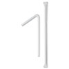 "Wrapped Super-Jumbo Flexible Straws, 7 5/8"", White, 10000/Carton"