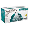 <strong>AnsellPro</strong><br />Touch N Tuff Nitrile Gloves, Teal, Size 8 1/2 - 9, 100/Box