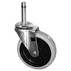 """<strong>Rubbermaid® Commercial</strong><br />Replacement Swivel Bayonet Casters, 4"""" Wheel, Thermoplastic Rubber, Black"""
