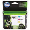 HP HP 951, (CR314FN) 3-pack Cyan/Magenta/Yellow Original Ink Cartridges HEWCR314FN