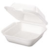 Snap It Foam Container, 6 2/5 x 6 2/5 x 3, White, 125/Sleeve, 4 Sleeves/Carton