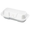 Foam Hot Dog Container, 7 3/8 x 3 9/16 x 2 1/4, White, 125/Bag, 4 Bags/Carton