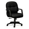 HON® 2090 Pillow-Soft Series Managerial Mid-Back Swivel/Tilt Chair, Black/Black HON2092NT10T