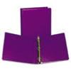"Fashion View Binder, Round Ring, 11 x 8-1/2, 1"" Capacity, Purple, 2/Pack"