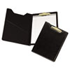 Value Padfolio, Heavyweight Sealed Vinyl, Brass Clip, Inside Front Pocket, Black